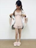Cocoonist_Official(Yumi Ueno)さんの「QE80 ボア羽織ブランケット(Cocoonist|コクーニスト)」を使ったコーディネート