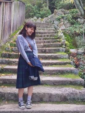 yuriさんの「ボトルネックプルオーバー【niko and...】(niko and...)」を使ったコーディネート