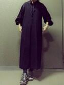 odaさんの「UWMF フロント タック ジャンバー スカート(UNITED ARROWS ユナイテッドアローズ)」を使ったコーディネート