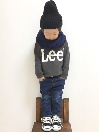 HARU.さんの「LeeKIDS LEELOGO PRINT SWEAT(Lee リー)」を使ったコーディネート
