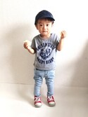 ☆ruisboy☆さんの「リアルベアー半袖Tシャツ(RADCHAP|ラッドチャップ)」を使ったコーディネート