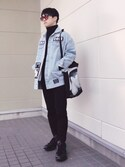 MOTOKIさんの「Isolated Heroes Printed Cotton Tote Bag(Raf Simons|ラフシモンズ)」を使ったコーディネート