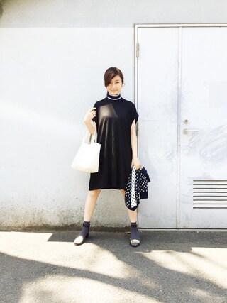 CurtainCall OnlineShop|酒井 景都さんの「2015秋冬商品 RIB KNIT HI-NECK ONE-PIECE HALF SLEEVE(NON TOKYO|ノントーキョー)」を使ったコーディネート