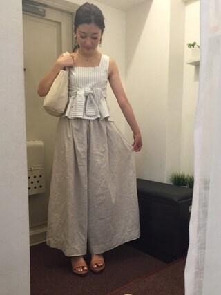 CurtainCall OnlineShop|酒井 景都さんの「wide pants(ikkuna / suzuki takayuki|イクナ/スズキタカユキ)」を使ったコーディネート