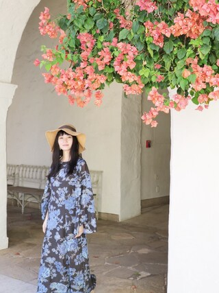 CurtainCall OnlineShop|酒井 景都さんの「Free People Melrose Printed Dress(Free People|フリーピープル)」を使ったコーディネート
