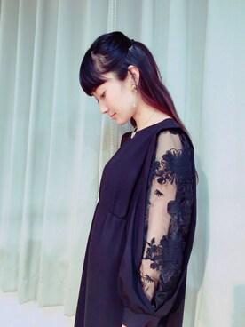 CurtainCall OnlineShop|酒井 景都さんの「【予約販売】Flower Organdy ジョーゼットワンピース(And Curtain Call)」を使ったコーディネート