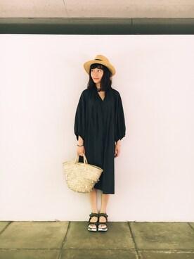 CurtainCall OnlineShop|酒井 景都さんの「ペーパーブレード中折れハット(Mila Owen|ミラ オーウェン)」を使ったコーディネート