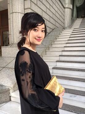 CurtainCall OnlineShop|酒井 景都さんの「Flower Organdy ジョーゼットワンピース(And Curtain Call)」を使ったコーディネート