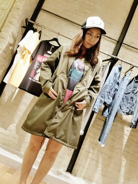 「HYS COLLEGE PARTY pt メッシュCAP(HYSTERIC GLAMOUR)」 using this HYSTERIC GLAMOURミント神戸店|ちゃあ looks