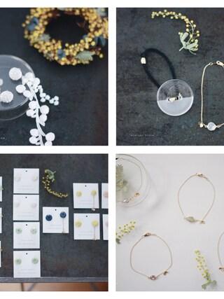 atelier bloom POP UP STORE|atelier bloomさんの「天然石の花びらブレスレット(atelier bloom|アトリエブルーム)」を使ったコーディネート