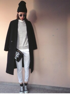 maichinさんの「WOOL-BLEND DOUBLE BREASTED CT(MOUSSY|マウジー)」を使ったコーディネート