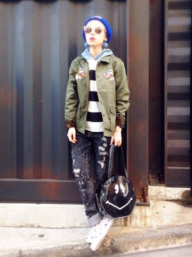 「SMILY POOL BAG(Aymmy in the batty girls)」 using this 瀬戸あゆみ looks