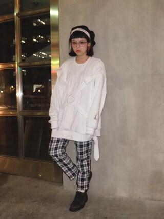 瀬戸あゆみさんの「OVER SIZE パラシュート トップス(MILKBOY|ミルクボーイ)」を使ったコーディネート