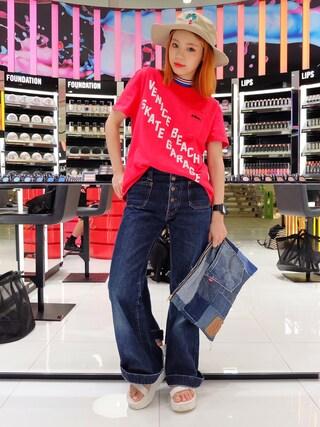 瀬戸あゆみさんの「SKATING VENICE Tシャツ(Aymmy in the batty girls|エイミー インザ バッティー ガール)」を使ったコーディネート