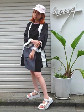 瀬戸あゆみさんの「SG DECK ボンディング切替スカート(Aymmy in the batty girls|エイミー インザ バッティー ガール)」を使ったコーディネート