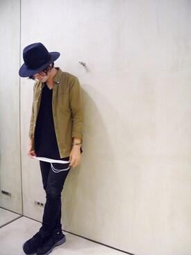 ONE AND ONLY 仙台店|Attic_suzukiさんの「BASIC V-NECK TEE(VICTIM)」を使ったコーディネート