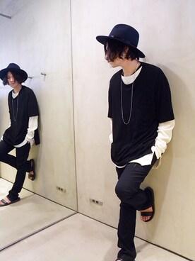 ONE AND ONLY 仙台店|Attic_suzukiさんの「HALF SLEEVE LONG TEE(VICTIM)」を使ったコーディネート