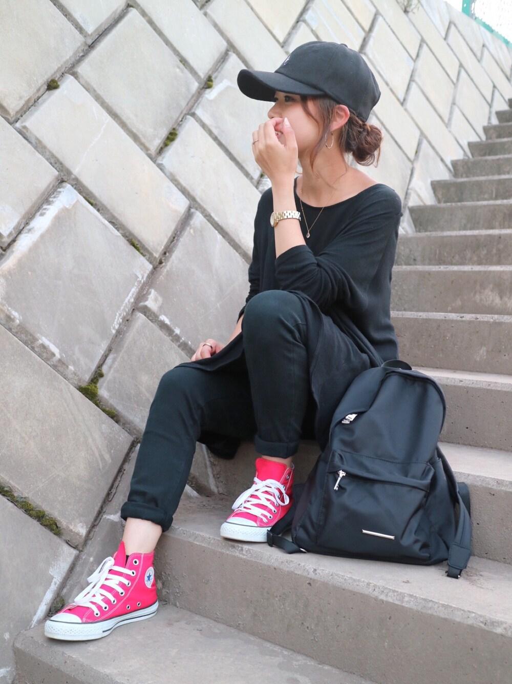 運動会 サッカー観戦 ママ服装 かっこいい 帽子 キャップ 画像