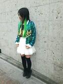和瀬凛さんの「【SELECTED FOR PLAIN CLOTHING】グリーンティ(PLAIN CLOTHING|プレーンクロージング)」を使ったコーディネート