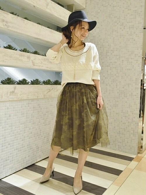 takanoさんの「カモフラチュールスカート(Q)」を使ったコーディネート