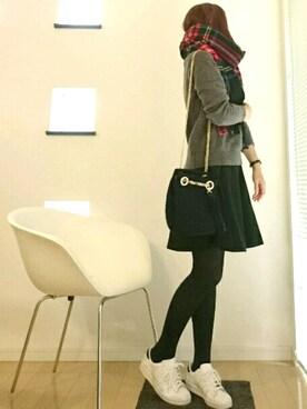 sk*さんの「【PLAIN CLOTHING】ニットハンドバッグ(PLAIN CLOTHING)」を使ったコーディネート