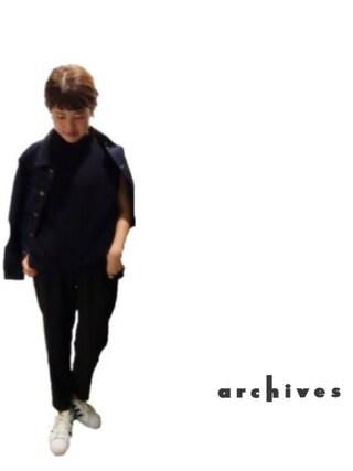 archives|archivesさんの「タックGジャン(archives|アルシーヴ)」を使ったコーディネート