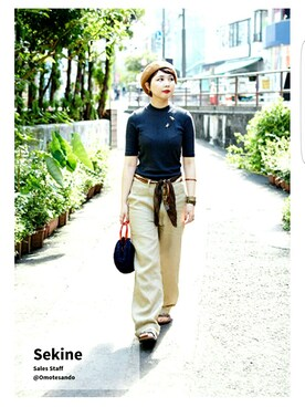SEKINEさんの(UNIQLO|パナマボーイ)を使ったコーディネート