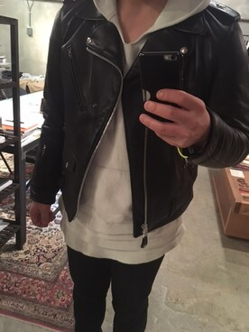 林�:$#y�'9�c_林宏哉さんの「schott n.y.c one star riders jacket *(sophnet.