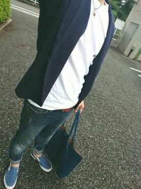 ryo2angusさんの(SHIPS JET BLUE|シップスジェットブルー)を使ったコーディネート