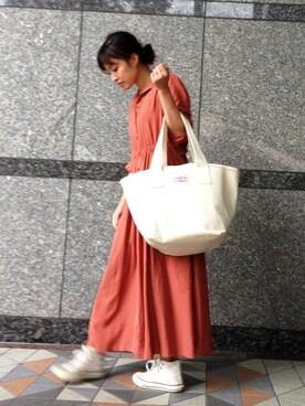 WEB STORE店 wakuwaku_staffさんの「DOMENICO+SAVIO ワンピース(DOMENICO+SAVIO)」を使ったコーディネート