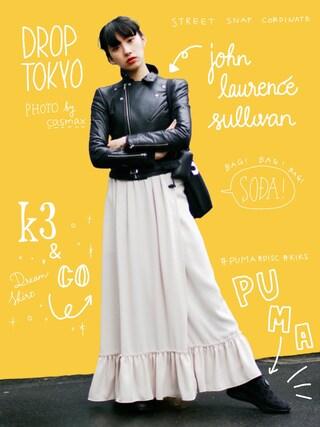 中田クルミさんの「Dream Skirt(k3&co|ケイスリーアンドコ)」を使ったコーディネート