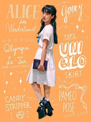 中田クルミさんの「OLYMPIA LE TAN/OD/Better Clothes(ODORANTES nano・universe|オドラント ナノ・ユニバース)」を使ったコーディネート