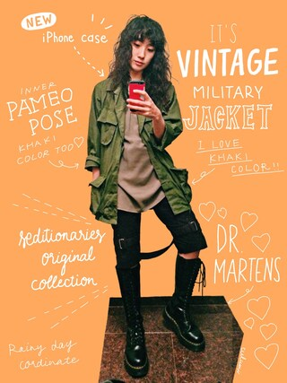中田クルミさんの「DR. MARTENS Boots(Dr.Martens|ドクターマーチン)」を使ったコーディネート