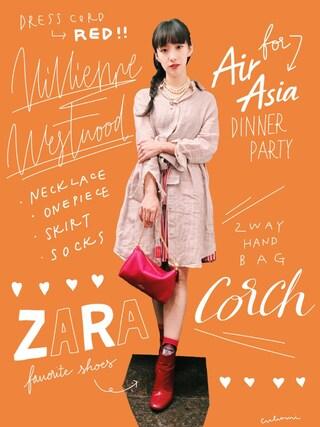 中田クルミさんの「メタリックプルタブ付きヒール(ZARA|ザラ)」を使ったコーディネート
