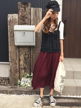 「【Lady like】コットンレースビスチェ(Ungrid)」 using this 清水夏姫 looks