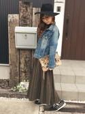 清水夏姫さんの「2WAYクラッチバッグ(OZOC|オゾック)」を使ったコーディネート