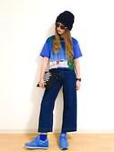ayana さんの「レディース SAUCONY サッカニー WMNS JAZZ ORIGINAL ウィメンズ ジャズ オリジナル S1044-362 BLUE(Saucony サッカニー)」を使ったコーディネート