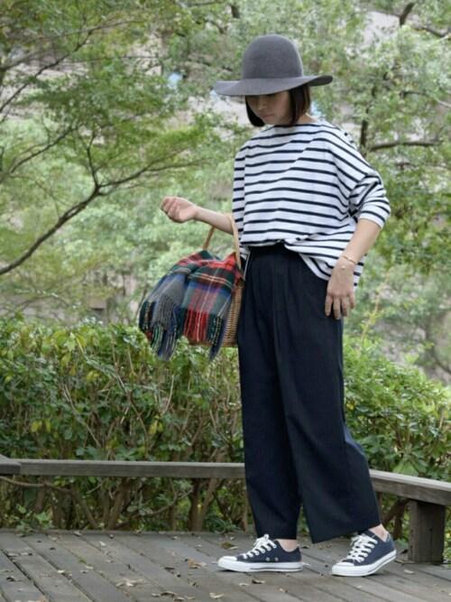 *kumiko*さんの「【SORBATTI】RAUND HAT(SALON adam et rope')」を使ったコーディネート