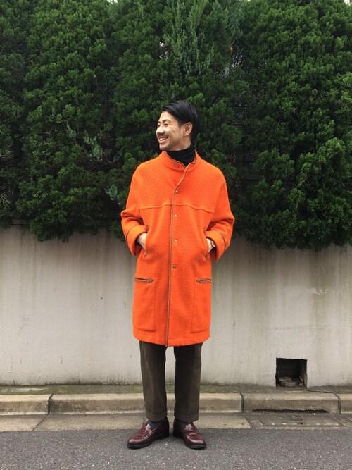 DESCENTE BLANC DAIKANYAMAMASATOSHIKOMORIさんのニット/セーター「MERINO WOOL TURTLENECK / メリノウールタートルネック(DESCENTE|デサント)」を使ったコーディネート