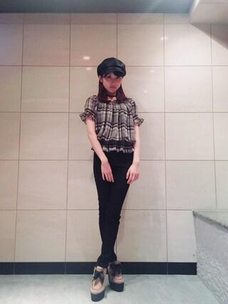 林萌々香さんの(GU ジーユー)を使ったコーディネート
