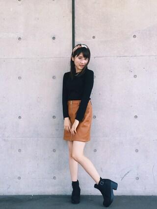 林萌々香さんの(MURUA|ムルーア)を使ったコーディネート