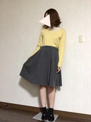 Lavi*さんの「TRタックAラインスカート(LEPSIM LOWRYS FARM レプシィム)」を使ったコーディネート
