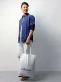 ryoma nagaokaさんの「relume ショッピングトートバッグ#(JOURNAL STANDARD relume ジャーナルスタンダード レリューム)」を使ったコーディネート