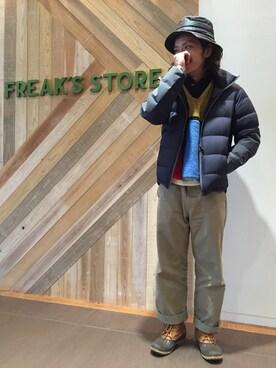 FREAKS STORE 梅田ルクア メンズ店|マツモト  ヒロキさんの「撥水ストレッチパッカブルダウンジャケット(FREAK'S STORE|フリークスストア)」を使ったコーディネート