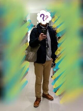 Ossanだぃさんの「:Japan madeウールCHマフラー(nano・universe ナノユニバース)」を使ったコーディネート