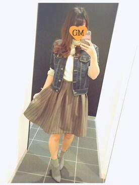 chi ⑅ ❁ .°さんの「ストライプボンディングスカート(titty&Co.)」を使ったコーディネート