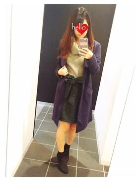 chi ⑅ ❁ .°さんの「リボン付きコクーンスカート(31 Sons de mode)」を使ったコーディネート