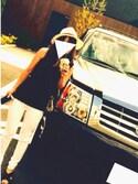 mamekoさんの「PE混ブレード同色リボンつば広HAT(AZUL by moussy アズールバイマウジー)」を使ったコーディネート