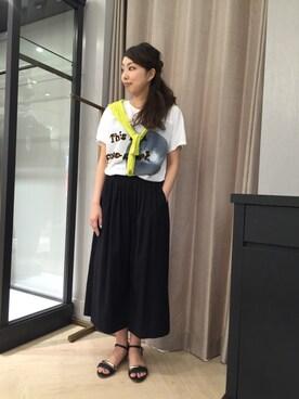 qualite大阪高島屋|ひらめさんの「フロントタックガウチョパンツ【予約】(カリテ)」を使ったコーディネート