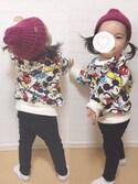 yuzuzuさんの「リブ編みニット帽(petit main|プティマイン)」を使ったコーディネート